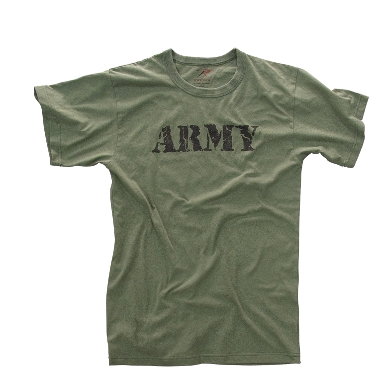 Vintage 'Army' T-Shirt, Olive, Rothco