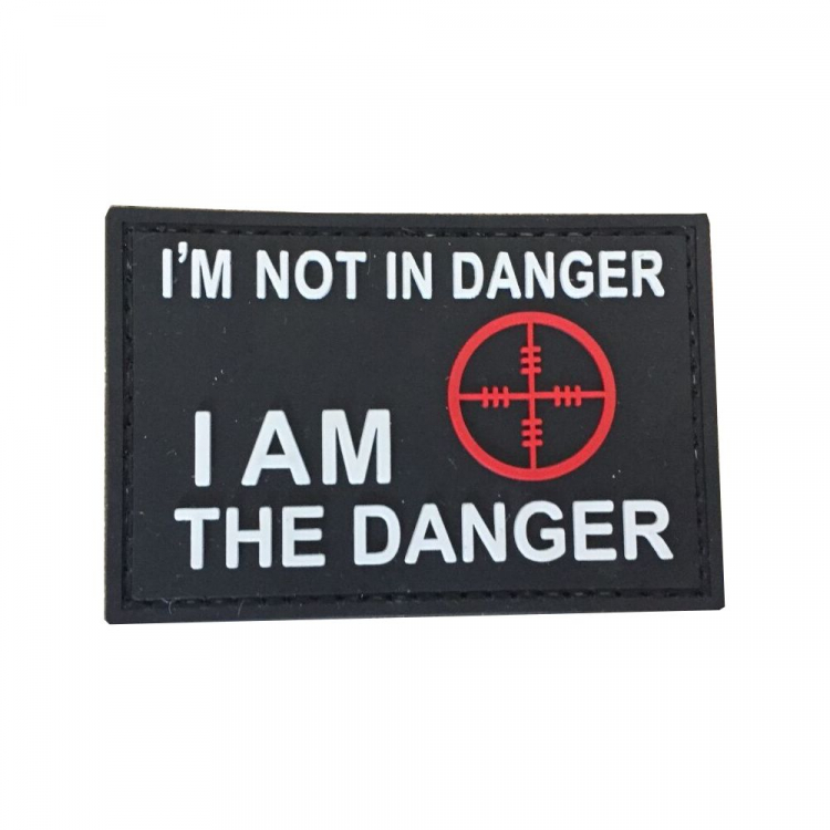"PVC patch ""I am not in danger"""