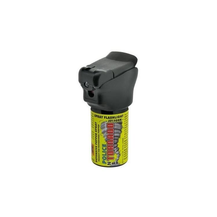 Pepper spray Tornado Police, shot, ESP