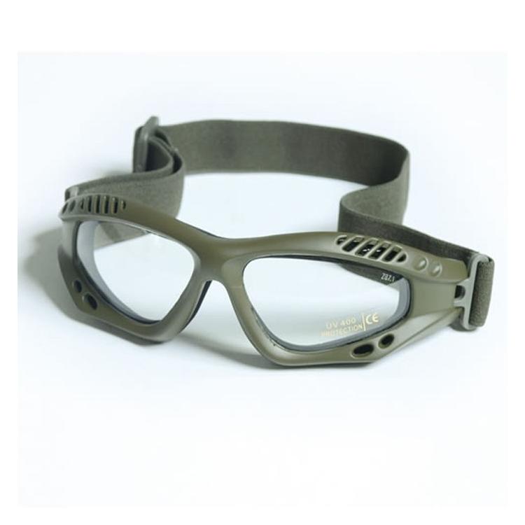 Commando Air Pro glasses, olive, clear, Mil-Tec