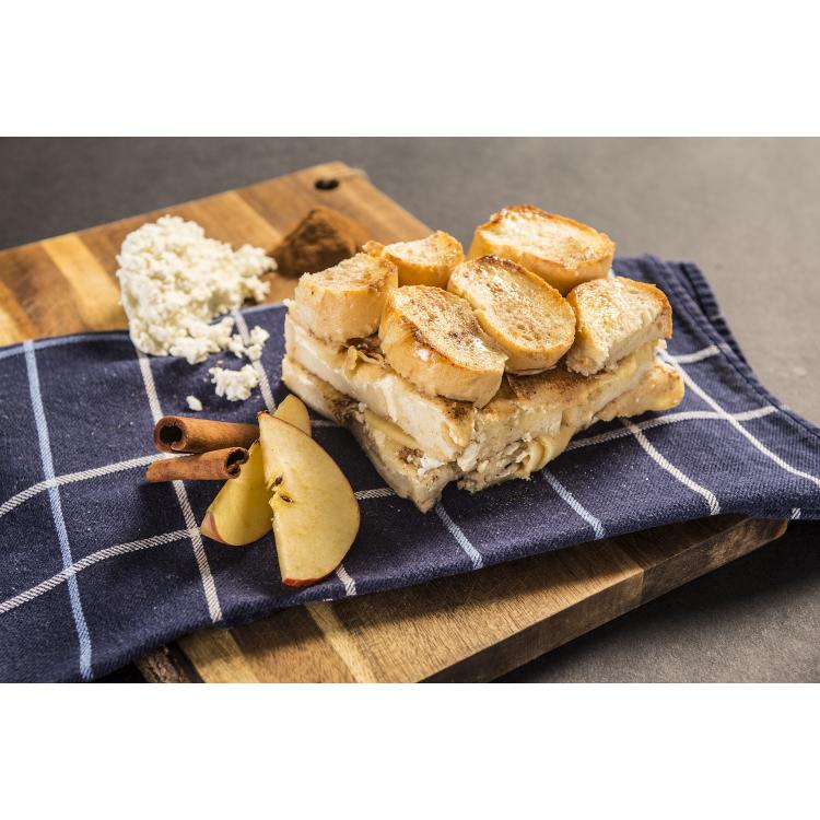 Bread Pudding Apples & Cinnamon, vegetarian, Adventure Menu