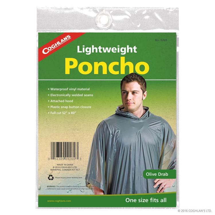 Raincoat / poncho, vinyl, Coghlan's