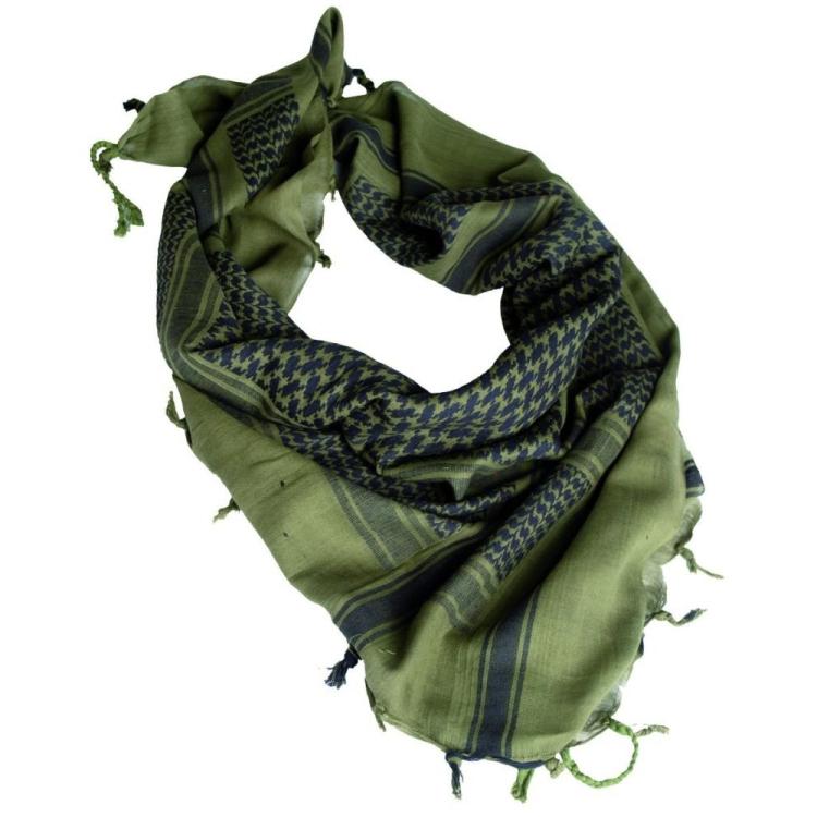Shemagh scarf, green-black, Mil-Tec