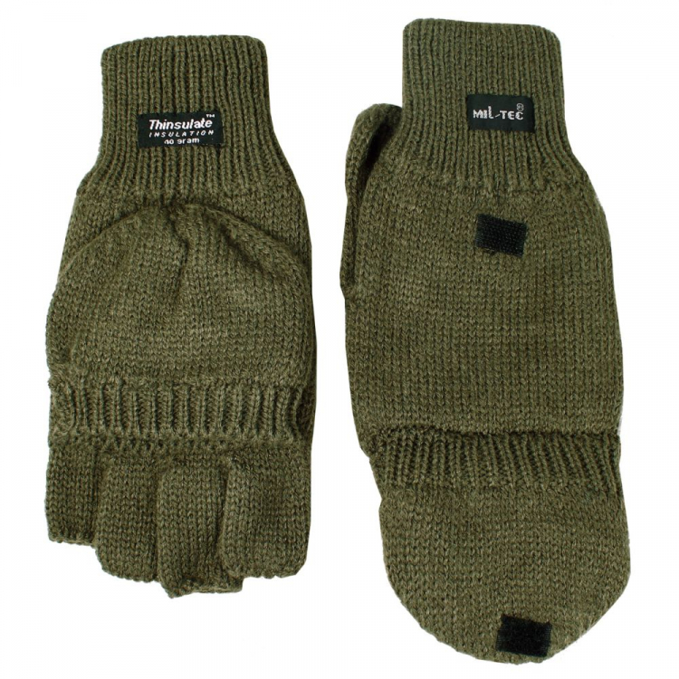 Knitted gloves, Olive, Mil-Tec
