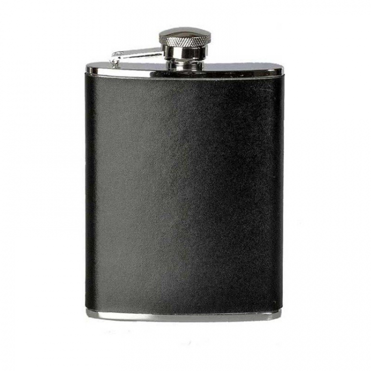 BasicNature Hip flask 'Leather', 180 ml, Reliance