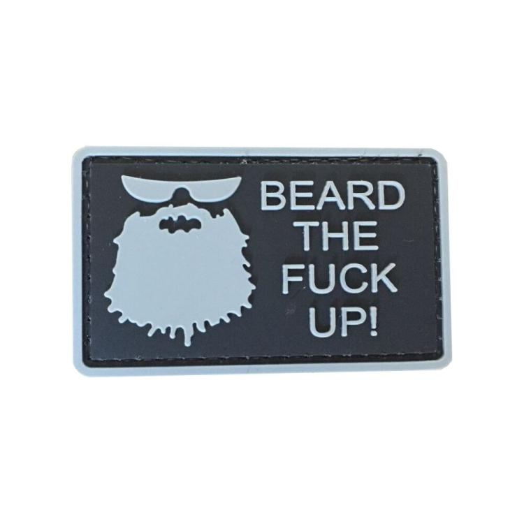 "PVC patch ""Beard The Fuck Up"""