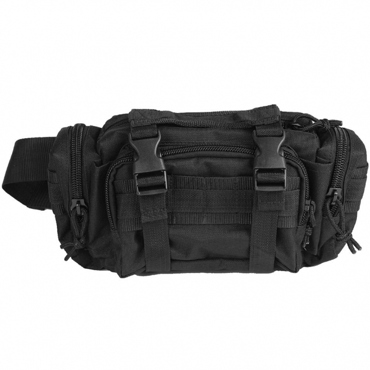 Waist Bag Modular System, black, Mil-Tec