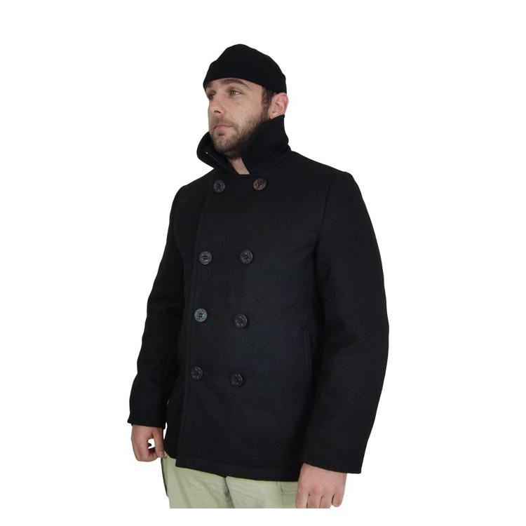 Men's navy coat Pea Coat, Surplus