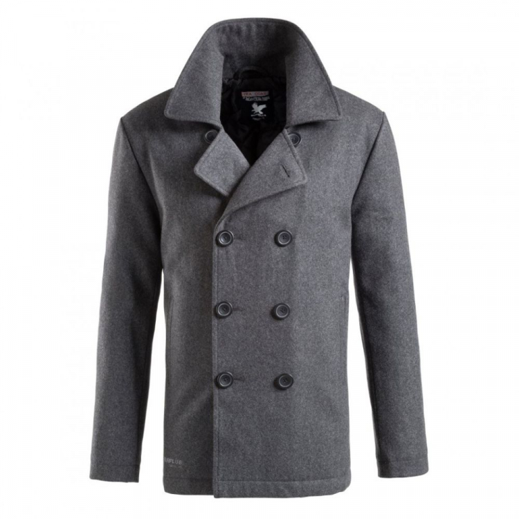 Men's navy coat Pea Coat, Surplus