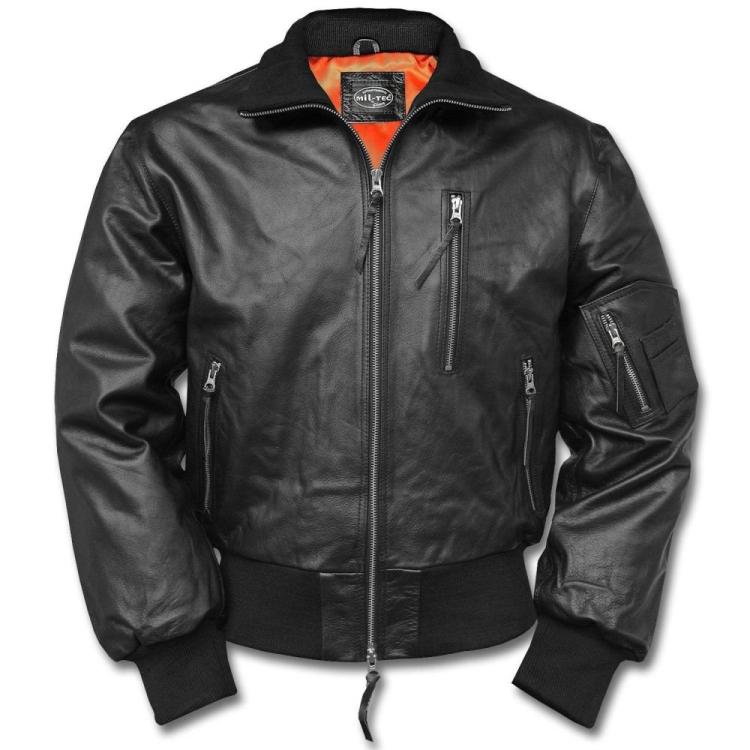 Pilot leather jacket BW Aviator, Mil-Tec