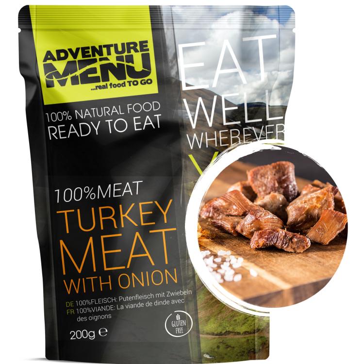 100% Turkey Meat with Onion, Adventure Menu