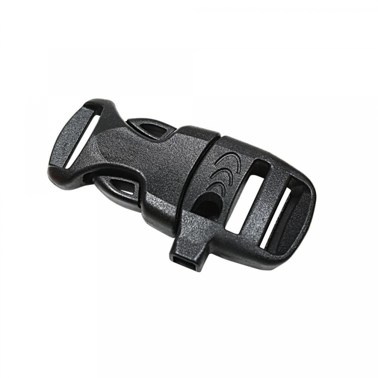 Rothco Whistle Side-Release Buckle, Black, Rothco