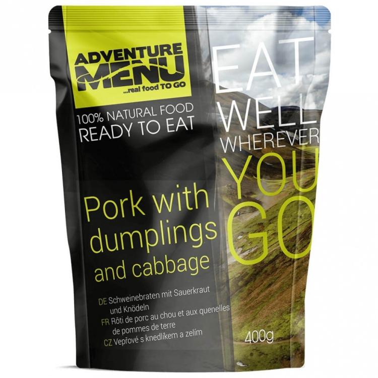 Pork w/ Dumplings & Cabbage, Adventure Menu