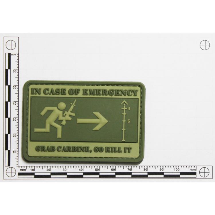 "PVC patch ""In Case of Emergency"""