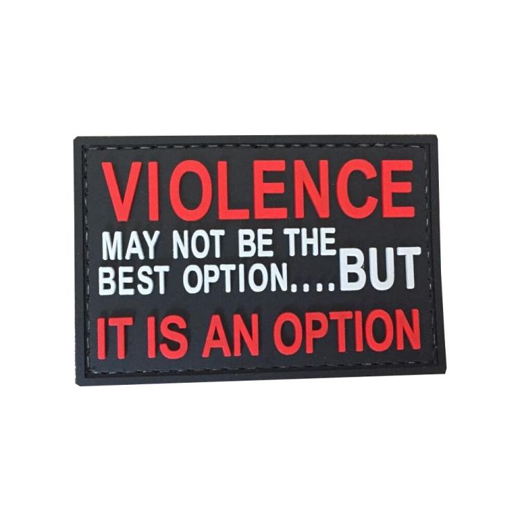 """PVC patch """"Violence option"""""""