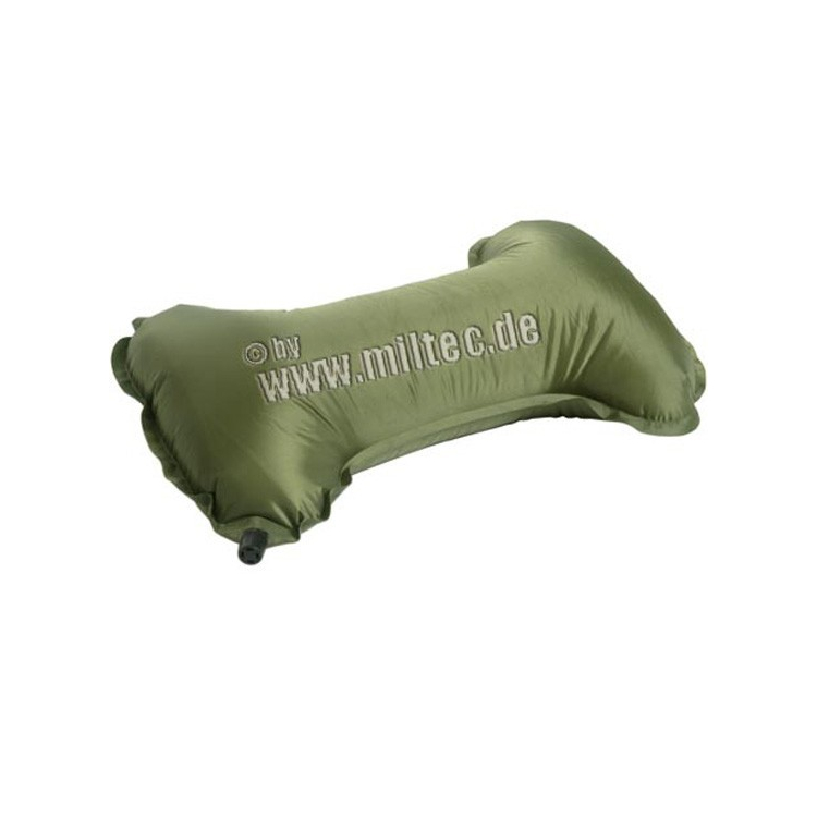 Self-inflating travel pillow, olive, Mil-Tec