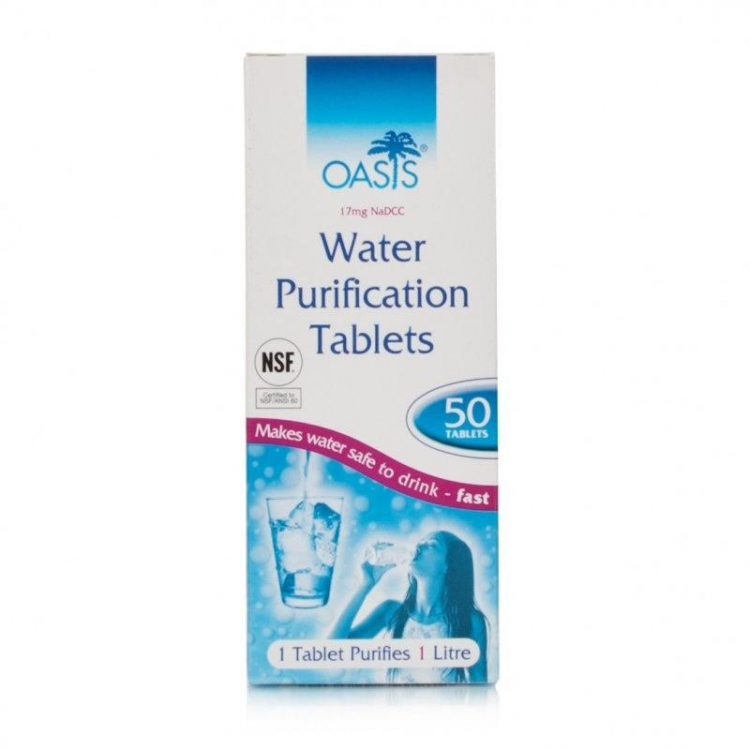 Water Purifying Tablets, 50 tablets, BCB