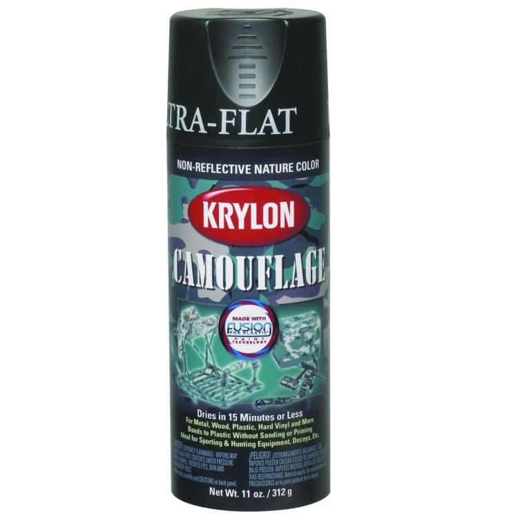 Camouflage spray paint, black, Krylon