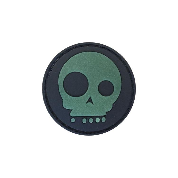 """PVC patch """"MediEvil Skull"""", shining"""