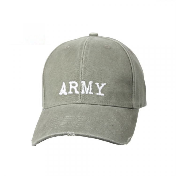 Vintage Army Low Profile Cap, Olive, Rothco