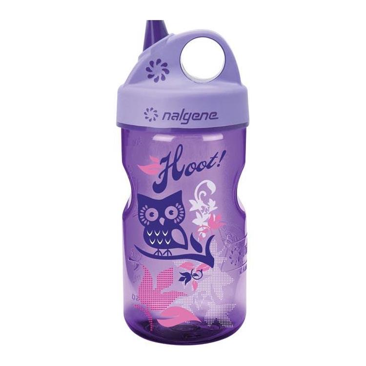 Kids Bottle Grip'n Gulp™, 12oz, hoot, Nalgene