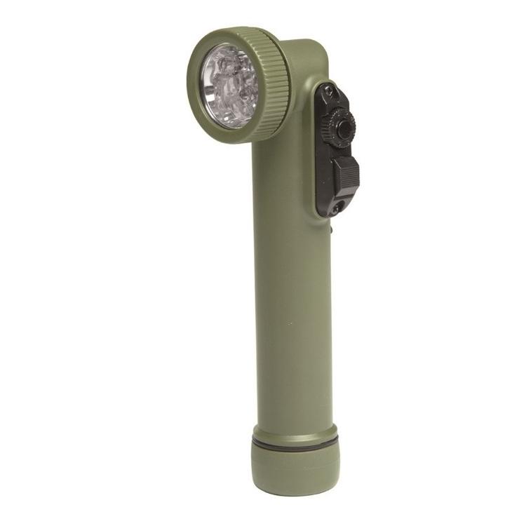 Army flashlight 6 LED, 4 colors, olive, Mil-Tec