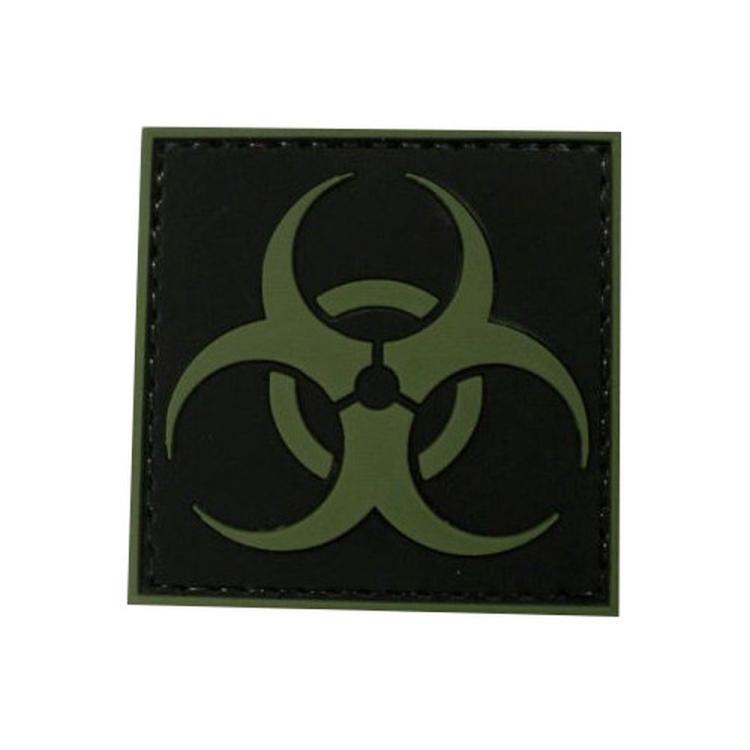 """PVC patch """"Biohazard"""", green"""