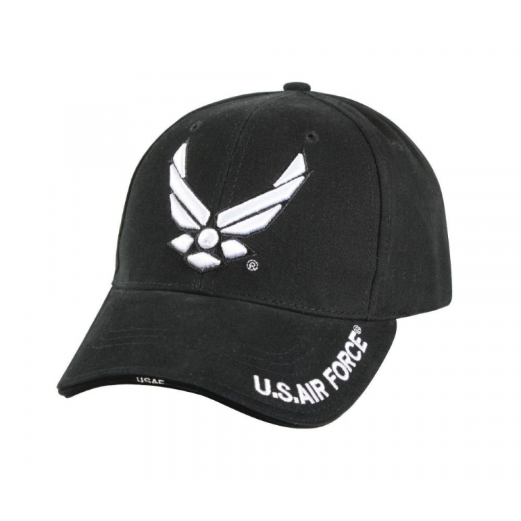 Deluxe Low Profile Air Force Wing Cap, black, Rothco