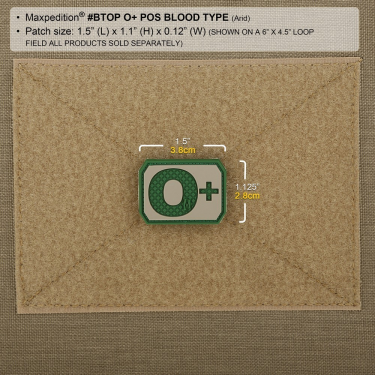 O+ Blood Type Morale Patch, Maxpedition