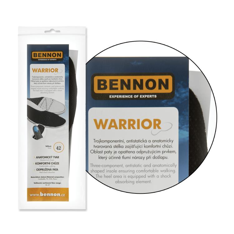 Vkládací stélky do bot Warrior, Bennon