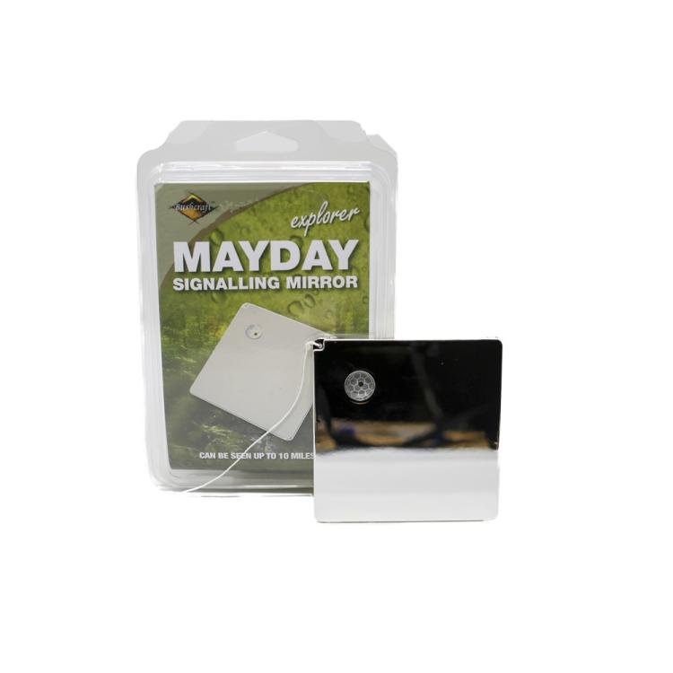 Mayday signal mirror 10 x 10 cm, BCB