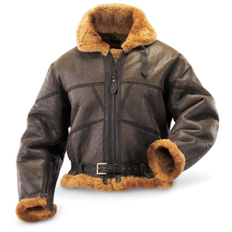 British flight jacket RAF Irvin, sheepskin, Mil-Tec