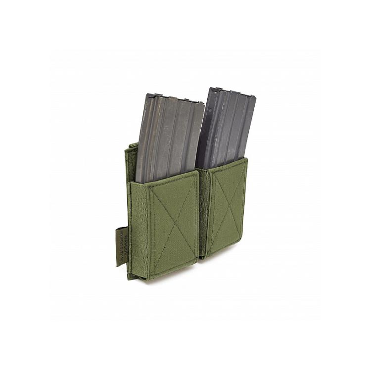 Double Elastic Mag Pouch AR15 or AK/SA58, Warrior