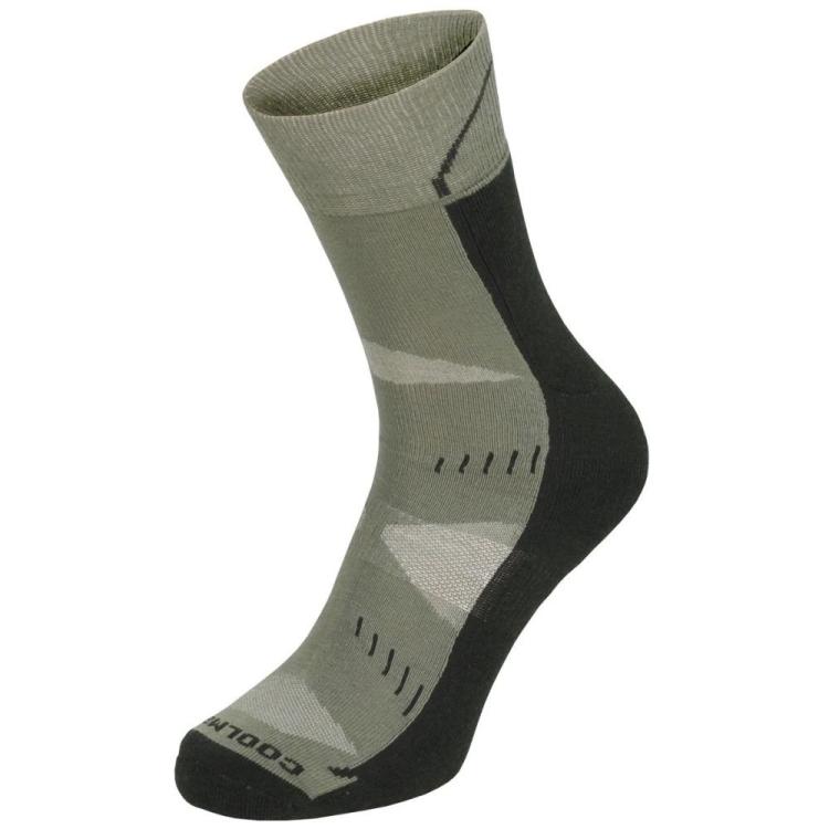 Trekingové ponožky Arber Coolmax, olivové