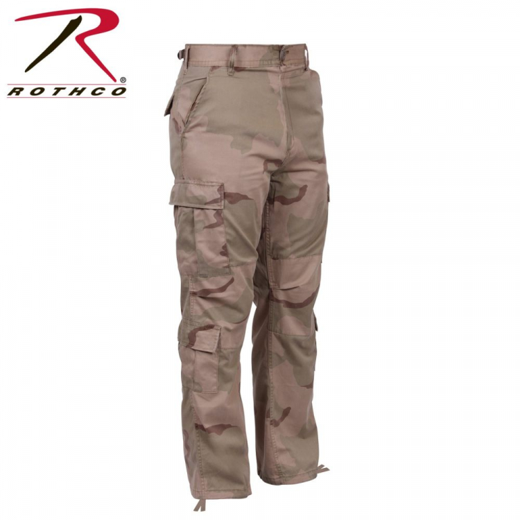 Vintage Camo Paratrooper Fatigue Pants, Rothco